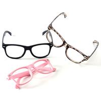çocuklar parti güneş gözlüğü toptan satış-Çocuklar Katı Renkler Gözlük Çerçevesi Moda Boy Spor Gözlük Çerçevesi Çocuk Güneş Fram Yok Lensler Bebek Parti Gözlük TTA1209