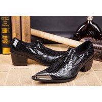 мужская обувь для ползунов оптовых-Горячая распродажа - острым носом платье кожаная обувь крокодил принт черные мужские туфли оксфорды случайные квартиры мужской лианы свадебные туфли размер 39-46