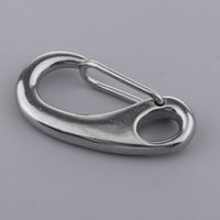 Wholesale stainless steel snap hook carabiner resale online - Scuba Diving Stainless Steel Egg Shape Quick Link Carabiner Snap Hooks Clips