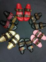 ingrosso stivali di slipper della caviglia-2019 Designer Casual Lady Sandali piatti Scarpe donna Pantofole Qualità infradito Scarpe da ginnastica Trainer Donna Stivali Slides Mocassini taglia 35-42