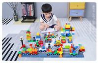 bloques de construcción de trenes al por mayor-Bloques de construcción Caja digital de plástico 106 Tren digital Bloques de construcción de automóviles Juguetes para niños Inteligencia educativa de los niños Seguro Ambiental