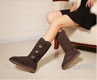 бочонки оптовых-Зимние австралийские зимние ботинки 1873 классические ботинки с высокими бочками, с ребристой подошвой и противоскользящей обувью. Кожаная теплая дизайнерская обувь. Размер EU34-43