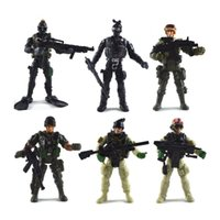 Wholesale boys weapon toys resale online - Military Soldier Type Military Model With Removable U S Soldiers Equipped With Weapons Hand Doll Children Toys
