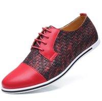 benzersiz erkekler ayakkabısı toptan satış-Patchwork benzersiz sivri burun ayakkabı Mens büyük boy ayakkabı zarif elbise ayakkabı için düşük flats patchworks desen karakter ayakkab ...