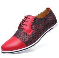 einzigartige männer schuh großhandel-Patchwork einzigartige spitze Zehenschuhe Herren große Größe Schuhe anmutige Kleid Schuhe niedrige Ebenen Patchworks Muster Charakter Schuh für Mann zy878