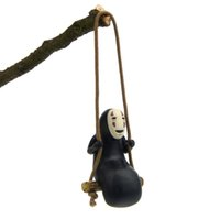 Wholesale pvc swings resale online - No Face Man Spirited Away Swing Action Figure Collectible Model Hot Toys Birthdays Gifts Doll New Arrvial PVC