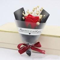 imagens estrelas venda por atacado-Novo Dia dos Namorados casamento Soap Rose Estrelas Secas Flores Ins Mini Pequeno Buquê Take Pictures Pêndulo Adereços com Mão Presente