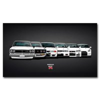Wholesale nissan sport cars for sale - Group buy HD Printed Nissan GTR Classic Sports Cars Wall Art Poster Canvas painting For Home Room Decor