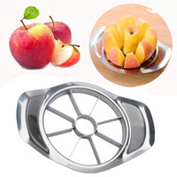 Wholesale apple slices resale online - Stainless Steel Apple Slicer Vegetable Fruit Slicer Apple Pear Cutter Corer Processing Kitchen Slicing Knives Utensil Tool DBC BH3014