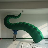 polvo de tentáculos venda por atacado-O tentáculo inflável do polvo sai do projeto da janela da construção no ar inflável Kraken para a decoração