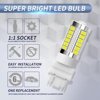 ingrosso sostituzione della luce del freno principale-2pcs 3157 5730 33SMD dell'automobile LED freno luce di azionamento delle lampadine di ricambio per automobili M8617