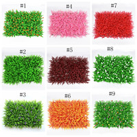Wholesale plastic garden walls resale online - Environment artificial turf colorful artificial lawn durable artificial plat wall delicate plastic grass for wedding garden EEA310