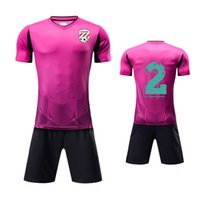 camisetas de fútbol v al por mayor-Ropa al aire libre al por mayor con cuello en V transpirable sublimada camisetas de fútbol personalizadas uniforme de fútbol deportivo