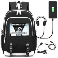 usb para chicas al por mayor-DENGPAO dj marshmello casco mochila portátil USB mochilas escolares para adolescentes niños niñas mochila de moda infantil mochila infantil