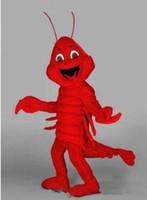 trajes de lagosta venda por atacado-2019 Personalizado trajes da mascote da lagosta vermelha trajes de halloween para adultos animal traje da mascote festival fancy dress frete grátis