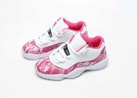 ingrosso girls pink shoes-Donne 2019 alta qualità 11 basso WMNS rosa Snakeskin scarpe da basket in vendita Fashion Girls Sneaker