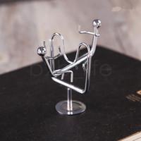 masa hareketi toptan satış-Denge Daimi Hareket Halter Demir Adam Oyuncak Sarkaç Newton topu Hogar Fizik Bilim Masa Dekor Masası oyuncak 200 ADET AAA1857