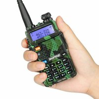 Wholesale walkie talkie vhf baofeng resale online - DHL Ship BaoFeng UV R Walkie Talkie Professional CB Radio Baofeng UV5R Transceiver CH W VHF UHF Handheld UV R For Hunting Radio