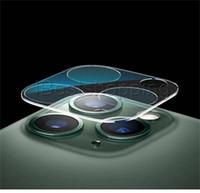 akıllı telefon için objektif toptan satış-Smartphone Cep Telefonu için Cam Film Sertleştirilmiş iPhone 11 Pro Max Geri Kamera Lens Ekran Koruma İçin