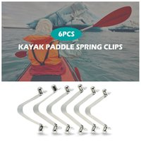 tentes tubulaires achat en gros de-6pcs M2165 Kayak Paddle Clips printemps Tente Clips Pole Bouton poussoir de verrouillage clip Mousqueton Pin Tube