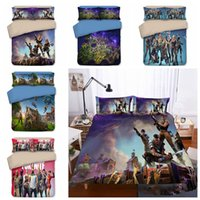 Wholesale 3d bedding pc set online - 5 Styles set Fortnite US UK AU Size Fabric Household Bedding Sets Bed Sheets Queen Bedding Sets King Size Comforter Set
