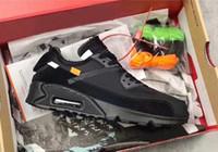 kd тетя жемчужина черные туфли оптовых-Новый классический Off Black 90 V2 Desert Ore кроссовки мужские черные спортивные кроссовки дизайнер обуви открытый кроссовки 90s мода с коробкой