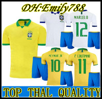 brezilya milli takım forması toptan satış-19 20 Brasil Milli Takımı COUTINHO Futbol Forması 2019 2020 Brezilya MARCELO WILLIAN Futbol Forması PAULINHO Futbol Forması G.JESUS Futbol