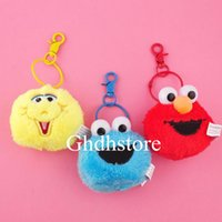 Wholesale bird cookie for sale - Group buy Top New Styles quot CM Sesame Street Elmo Cookie Monster Big Bird Plush Keychain Clip