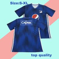 Wholesale home blue soccer for sale - Group buy 2019 Millionarios Bogota Soccer Jerseys A Del Valle Mosquera H Rojas Salazar Montoya Benitez Custom Home Blue Football Shirt