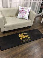 cuadrados de alfombra azul al por mayor-NewRectangle Brand Design Carpet 3 Tamaño de gama alta Cocina Alfombras de piso Moda BU Carta Imprimir Sofá Cojín lateral