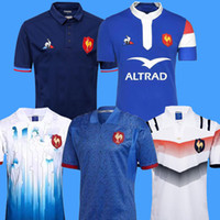 Wholesale new style jerseys resale online - New style France Super Rugby Jerseys France Shirts Rugby Maillot de Foot French BOLN Rugby shirt size S XL