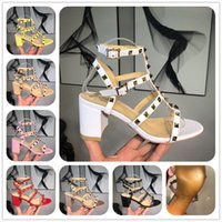 ingrosso tacchi beige t-Sandali firmati Designer Donna Sandali con tacchi colorati Top qualità T-strap Scarpe col tacco alto Ladies Dress Single Shoes with box 3A 86