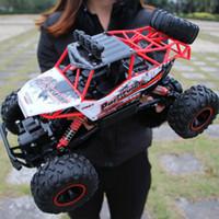 arabalı rc oyuncak toptan satış-1:12 4WD RC Arabalar Güncelleme Sürümü 2.4G Radyo Kontrol RC Arabalar Oyuncaklar Buggy 2017 Yüksek hızlı Kamyonlar Off-Road Kamyon Oyuncaklar Çocuklar için