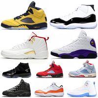 ingrosso scarpe da ginnastica verde per gli uomini-2019 5s FAB 5 TROPHY ROOM Uomo Scarpe da basket FIBA 12s Sneakerin Concord 11s Cap and Gown 13s Mens Scarpe da ginnastica Sport Sneakers 7-13