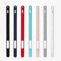 halter silikon tablette großhandel-Weiches silikon für apple pencil 2nd generation case für ipad pencil 2 kappe spitze abdeckung halter tablet touch pen stylus tasche hülle