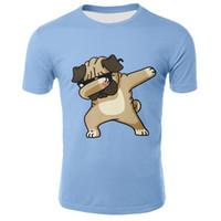 ingrosso camicie per cani-Animal Pug Dog DAB Kids Tshirt 2019 Summer Children T-Shirt Boy Girl Manica corta Printed Tee Top Bambino Dabbing Maglietta Unicorn