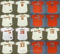 Wholesale ripken jersey for sale - Group buy Baltimores REGGIE JACKSON Orioles EDDIE MURRAY DAVE McNALLY FRANK ROBINSON CAL RIPKEN Jr EDDIE MURRAY JIM PALMER POWELL Jersey Stitched