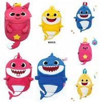 Wholesale shark art online - Baby Shark Children Backpacks Cartoon D Animal Printed Kids Kindergarten Shark Money Outdoor Travel Bag LJJO6285