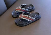 sommer kinder sandalen jungen großhandel-Luxus beschuht Sehne Schuhjungen und Mädchengeschenke weiche Unterseite rutschfeste Geschenke der Sommer-Sandelholzkinder freies Verschiffen 490