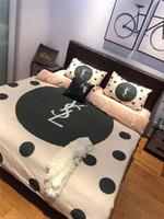 Wholesale designer bedding sets resale online - Dot Y Letter Bed Cover Sets New Home Textile Set Bedding Suit Designer Classic Cotton Velvet Blend Bedding Home Textiles pieces