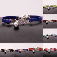 Wholesale volleyball jewelry for sale - Group buy Volleyball Charm Bracelet Infinity Love Bangles Pu Leather Trendy Bracelet New Jewelry For Women Men