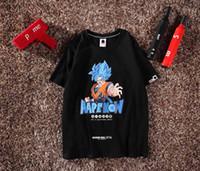 toplar maymun toptan satış-Erkek tasarımcı erkekler t shirt 19ss yeni kutusu logosu büyük maymun marka Ortak adı stil erkek t gömlek Dragon Ball Wukong Baskılı desen erkekler gömlek