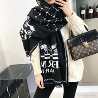 moda eşarp kemerleri toptan satış-Yüksek dereceli marka tasarım eşarp moda bayan ilkbahar ve sonbahar altın ipek pamuk uzun havlu kemer etiket yumuşak ve comfortable180 * 70cm sıcak satış