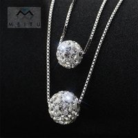 Wholesale double locket necklace for sale - Group buy Silver Jewelry Round Pendants Necklace Double clavicle chain For Women Girlfriend Birthday Gift Souvenir Jewelry N