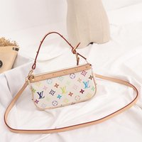 Wholesale colorful art prints resale online - Personality Colorful Letter Printed Handbag Fashion Wedding Party White Shoulder Bags for Gift Women Casual Cross Body Bag