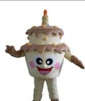 logo fantezi toptan satış-2019 sıcak yeni Özel Doğum Günü Pastası maskot kostüm bir logo eklemek Yetişkin Boyutu fantezi karnaval kostüm ücretsiz kargo
