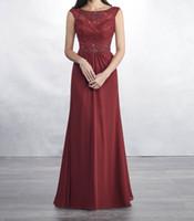 vestidos de noiva vestidos de noiva venda por atacado-Laço vermelho escuro com Chiffon Mãe dos vestidos de noiva (Aceita Custom Made) um pequeno estilo sereia vestido da mãe