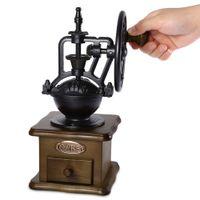 ingrosso smerigliatrice a mano-Retro Style Burr Macinacaffè Manuale macchina per caffè Macinacaffè Macinacaffè Macinacaffè Utensili per il caffè