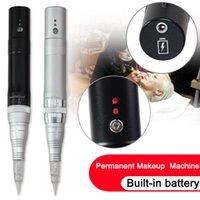 импортный макияж оптовых-Беспроводной макияж татуировки Брови картриджи машины Импорт двигателя Роторный заряда батареи Перманентный макияж машина Pen