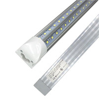 tubo integrado quatro pés venda por atacado-V-Shaped T8 4ft 5ft 6ft 8ft Cooler Door Led Tube Integrated Led Tubes Double Sides SMD2835 Led Fluorescent Lights AC85-265V